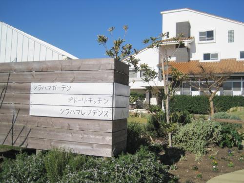 ここがレストランです。庭も広くって。ハーブとか栽培されてるようです。