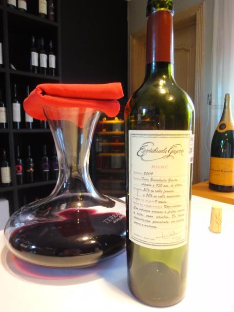 ワインはアルゼンチン産のマルベック種。<br /><br />「エスコリウエラ・ガスコン」<br /><br />アルゼンチンと言えばマルベックと言われますが、このエスコリウェラは、繊細でフルーティーで飲みやすく、フルボディーと言われながらも、どんな料理にも合わせやすいです。2009年なので、若々しさがありましたが、もっと寝かせれば熟成する味わいです。<br /><br />因みに、ワインリストでは手ごろなワインが並んでいます。