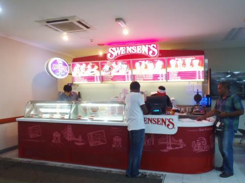 待合室にあるアイスクリームショップ