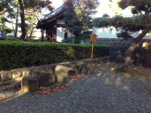 忍城の石垣の一部。何箇所かに展示されていました。