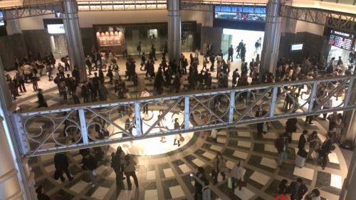 丸の内南口コンコース。<br /><br />東京駅内には、東京ステーションギャラリーと言う近代アートの美術館があります。<br /><br />駅舎の内部の古い赤レンガを見たかっただけの私に美術を語ることはできませんが、外側からは見えない旧い赤レンガや鉄筋などを見ることができました。<br /><br />ここはステーションギャラリーから行くことができます。