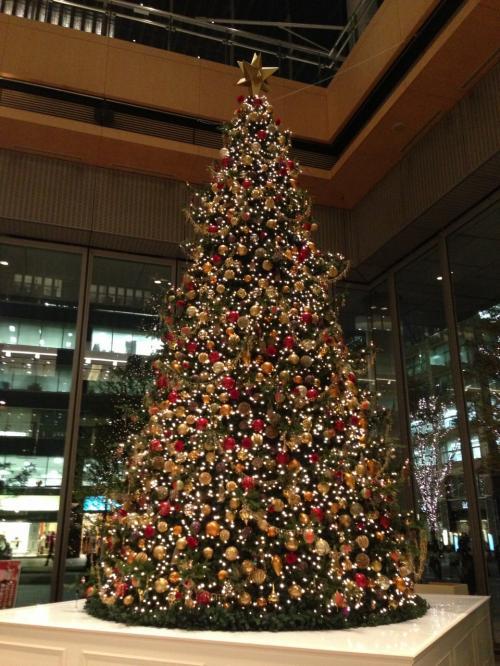 再び丸ビルに戻ります。<br /><br />8mのクリスマスツリーだそうで、とてもきれいでした。<br /><br />後で、ほかの人のブログによると来年60周年を迎える劇団四季とコラボしているようで、このツリーも劇団四季の代表作「オペラ座の怪人」をイメージしたものだそうです。<br /><br />そういえば、自分が行ったに劇団四季の人たちの歌声が聞こえてきて、記念のイベントをやってたな、と思いつつ、私は先を急ぎました。