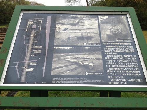 スタート地点から外郭南門まで通じるこの道の解説を見つけました。