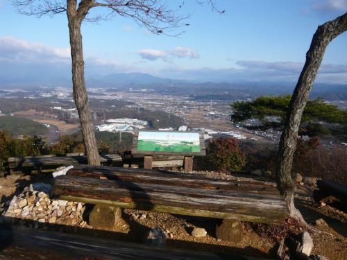 明王山見晴台(標高358m)