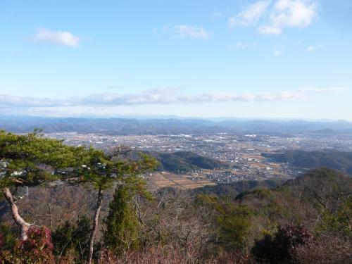 北側の関市方面の眺望