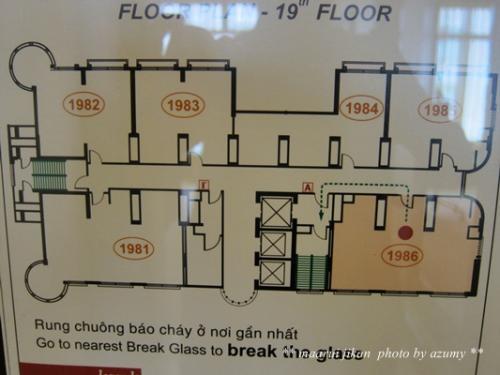 右下が私たちの宿泊したお部屋。お部屋の広さは65?。<br />
