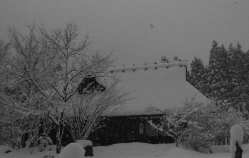 車内から雪景色