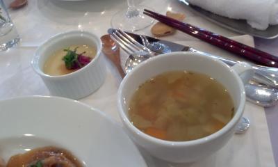 ミニ茶碗蒸しと野菜スープ