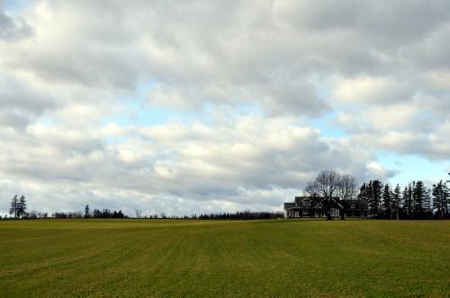 12月9日<br /><br />朝から北海岸のドライブ。シャーロットタウンから6号線を北上します。<br />冬なのに畑(牧草)が青々としているのは、ちょっと不思議な感覚です。