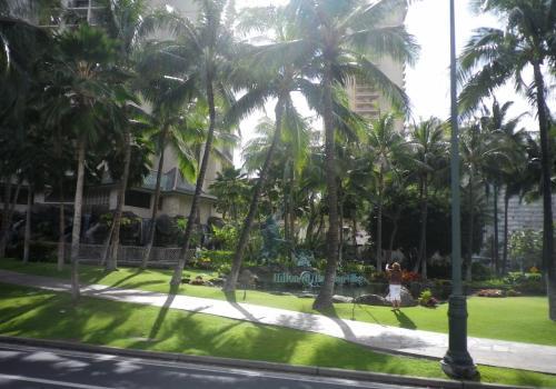 広い宿泊ホテルの風景が続く