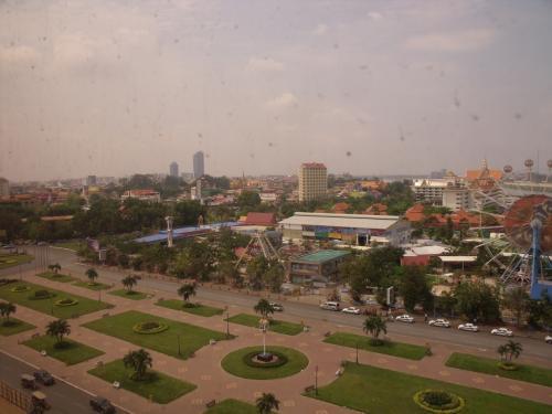 ホテル部屋からの眺望