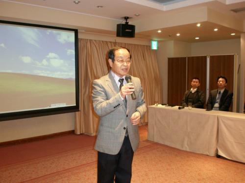 締めの言葉は<br /><br />千葉OKTA<br />笠井信幸 常任顧問<br /><br />アジア経済文化研究所の理事、朝鮮族研究学会の顧問をされています。<br /><br />『先生、お誘い頂きありがとうございました。』<br />