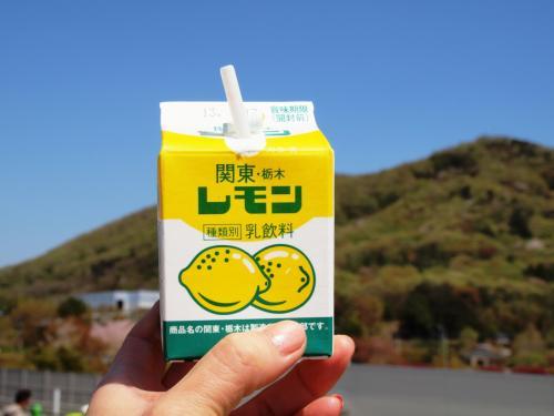 栃木といえば、やっぱり外せないレモン牛乳。<br /><br />気持ちいい風をうけながらいただきま〜す。