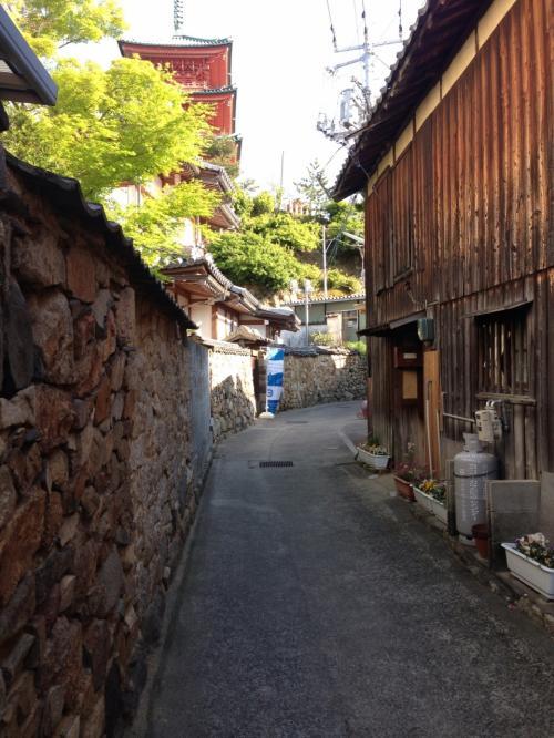西光寺周辺を迷路の道、と呼んでいるようです。確かに、迷いそう!