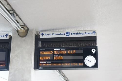9514番、ミラノ行き。<br />ローマ〜フィレンツェへ移動したときの電車で今度は終点まで行っちゃいます。