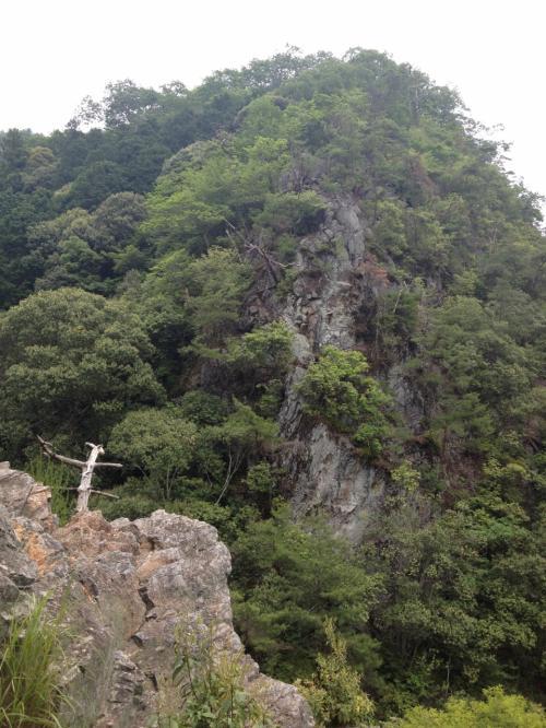 この絶壁は「書物岩」というらしいです。