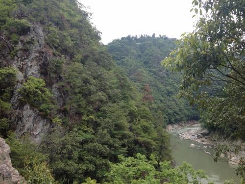 保津川と清滝川の合流点を「落合」と呼んでいるのだそう。