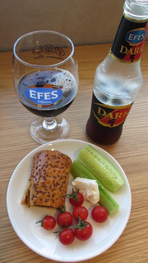 エフェスのダークビールはお勧めです!