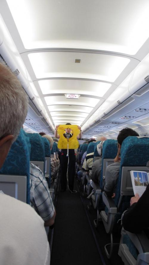 トルコ航空の機内はきれいで静か、快適なフライトでした。