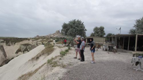 ギョレメパノラマは観光バスがとまる絶景ポイント。