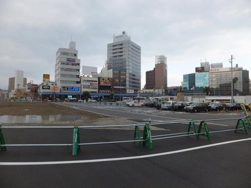 駅前を見てびっくり。すっかり様変わりしていました。