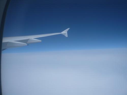 関空発23:40のエミレーツに乗って旅の始まりです。エミレーツ航空は3年前イギリスに行った時にも乗りました。今回はドバイ行き、オランダ行きともに窓側から2席、そして隣席は空いていて3席確保できました。これはとてもラッキーで長い飛行時間ではずいぶん楽でした。ドバイ着4:50 着陸してからターミナルまでバスに乗り〜モノレールの様なものに乗り〜この空港いいったいどんな広さなのでしょう?そして24時間ハブ空港です。夜中でもどこも賑わっています。関空を飛び立って少しして夕食! ドバイ着陸2時間前に朝食!3時間ほどの乗り継ぎ時間後オランダへ向かう飛行機離陸後又朝食?そしてスキポール空港に到着前に昼食!食べてばかりです・・・。そしてお酒はシャンパン以外は飲み放題!!お酒の好きな方がうらやましい。飲んで寝ているのが1番楽でしょう。私たちは飲まないので食べてはウトウト、目が覚めたら映画を見て又ウトウト・・・でした。
