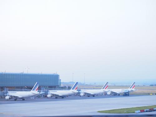 シャルル・ド・ゴール空港には6時前に到着。<br /><br />ボルドーまではエールフランスを使うが、<br />一旦荷物を受け取り、再度チェックイン。<br />JAL経由ではなく、個別にチケットを押さえたため。<br />