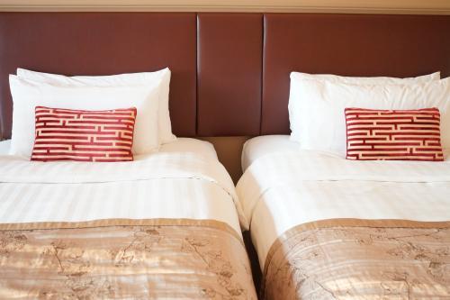 ベッド。<br />寝心地も普通。<br />
