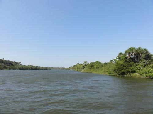 プレグィシャス川の水は茶色く、川幅は広い。<br />ゆっくり、滔々と流れています。<br /><br />明日のツアーはこの川を海まで下るもの。
