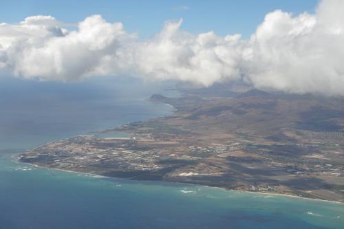 ア〜・・・♪<br />ハワイの空だあ・・・♪<br /><br />ハワイの島だあ・・・♪<br /><br />なんか、ハワイに来るとホッとする!