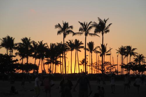 美しい夕陽が<br /><br />この夕陽を観たくて<br />ハワイに来る