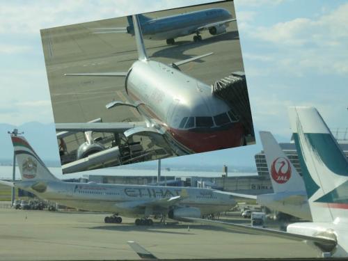 他にも飛行機はいろいろあるのに<br />めでたく選ばれたのは「中国東方航空」<br /><br />いきなり決めたバリ旅行、<br />おまけに帰国日は祝日ときたもんだ<br />大韓航空の仁川→名古屋が満席で取れなかった。。。<br /><br />だけど中国の飛行機<br />お値段が大韓の約半分!!!!