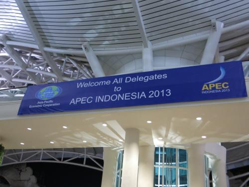 APEC首脳会議に合わせて<br />2013年9月19日開業された新しい空港<br />