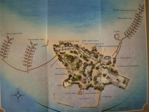 リゾートの地図
