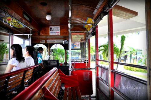 窓がないバスは、風が通り、<br />とっても気持ちいい。<br />これぞ、リゾートって感じ★