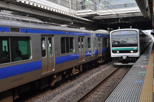 水戸行き電車がやってきました。