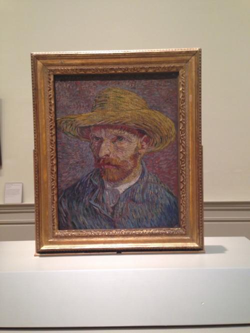 ゴッホの『麦わら帽子の自画像』です(^^)<br />