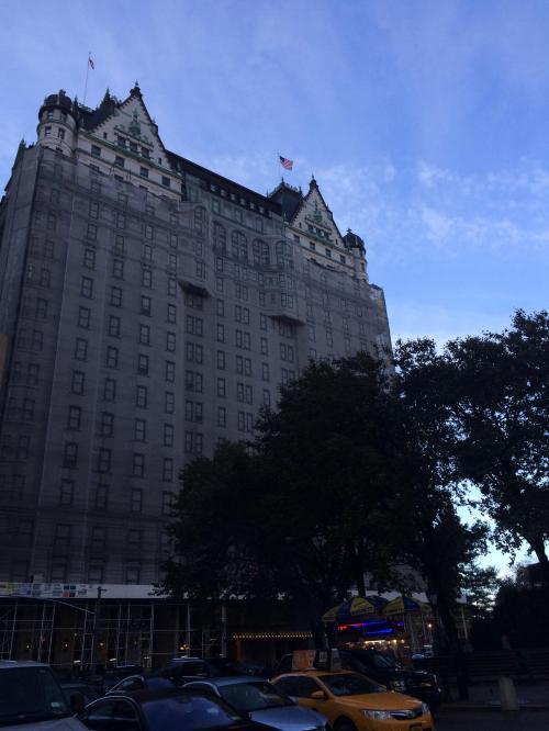 プラザホテルです(*^^*)<br />残念ながら改装中でしたが、五番街に面した歴史のある建物でした(^_-)