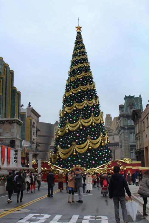 "<br /><br />まずは、""ユニバーサル・ワンダー・クリスマス""の主役?<br /><br />""クリスマスツリー""を見に行かなくっちゃね♪"