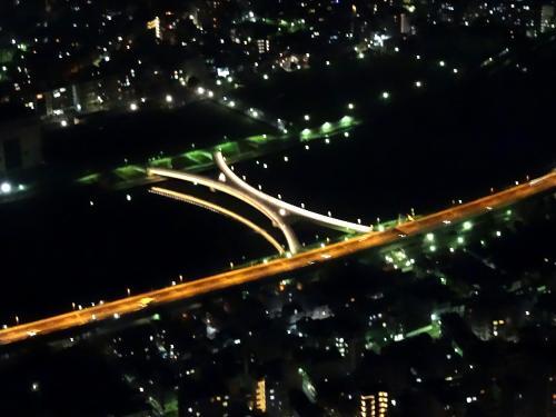 橋もライトアップされていて綺麗ですね。