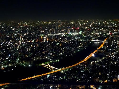 ほかの都市と比べて、東京の夜景は360度どこから見ても街の明かりに切れ目がないのが特徴ですね。