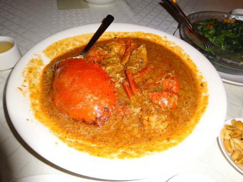 スリランカクラブのチリクラブをオーダー<br /><br />調理の仕方は5種類<br />1:White Pepper Crab<br />2:Chilli Crab<br />3:Butter Crab<br />4:Steamed Crab<br />5:Ginger & Spring Onion Crab<br />