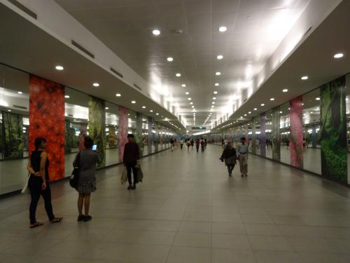 やってきたのはサークルラインのマリーナ・ベイ駅。<br /><br />この駅から直結で行けるのが・・・