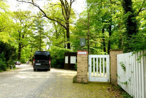 ポツダムの緑深いノイガルテン(新庭園)。宮殿はこの森の中にあります。<br />
