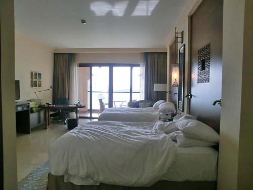 部屋の広さは十分です。<br /><br />特別変わった部屋でもありませんが、さすがに新しいホテルなので奇麗です。
