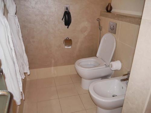 トイレとバスローブです。ウオッシュレットは有りません。