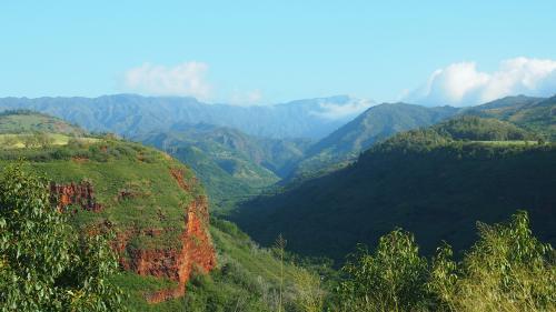 ハナペペ渓谷展望台からの眺め