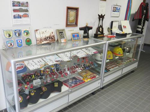 庁舎ロビーの展示物。