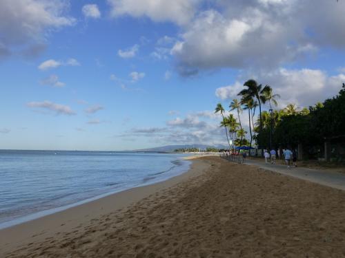 おいしい朝食をさらにおいしくする海の眺め。<br />お天気も良くてよかった!