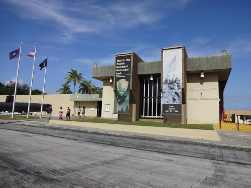 太平洋戦争記念館ビジターセンター。<br />とてもキレイです。<br />お買物、きれいな海等とはまた別な<br />グアムの歴史を感じます。